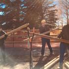 KPCG Volunteers Fence Posts