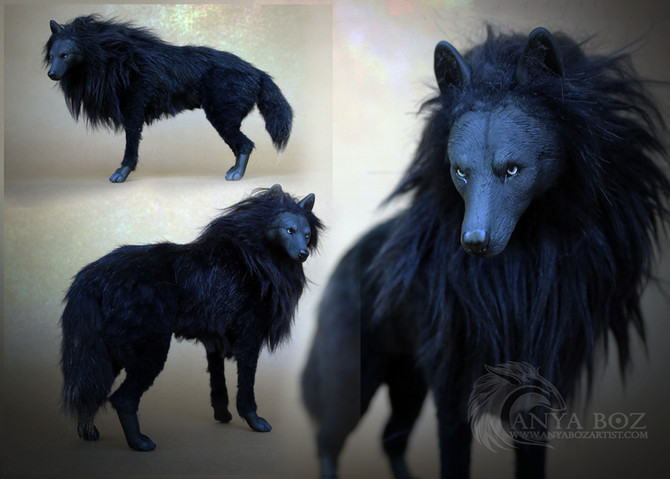 Onyx Wolf Room Guardian FOR AUCTION!
