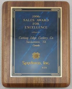 Spyderco award 1996
