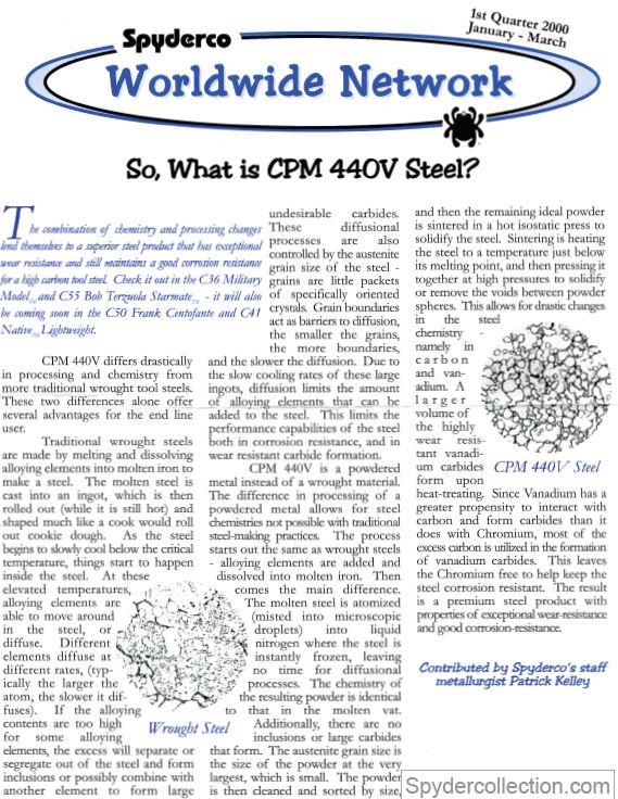 Spyderco newsletter Jan Mar 2000