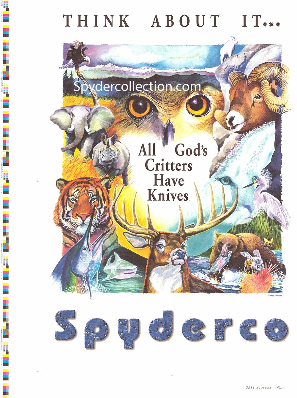 Spyderco Critters artwork