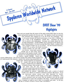 Spyderco newsletter Apr june 1999