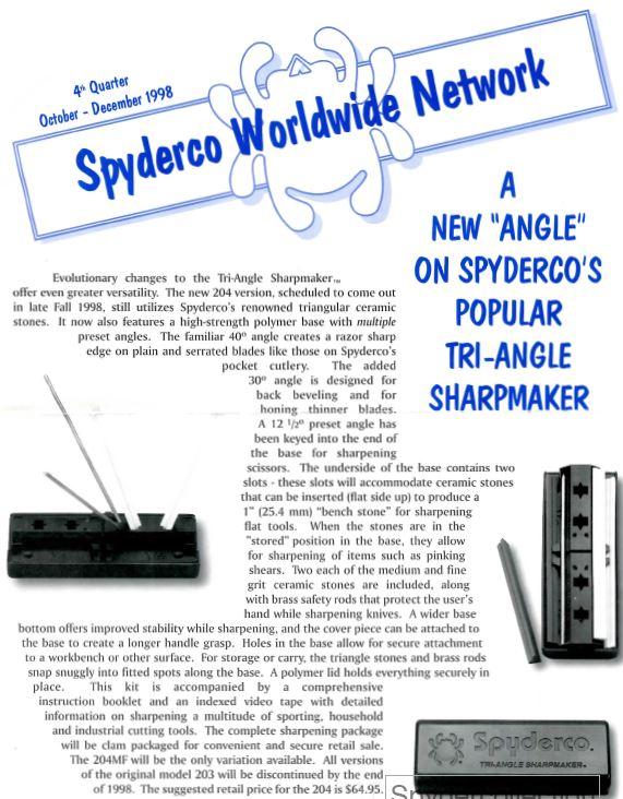 Spyderco Newsletter Oct Dec 1998