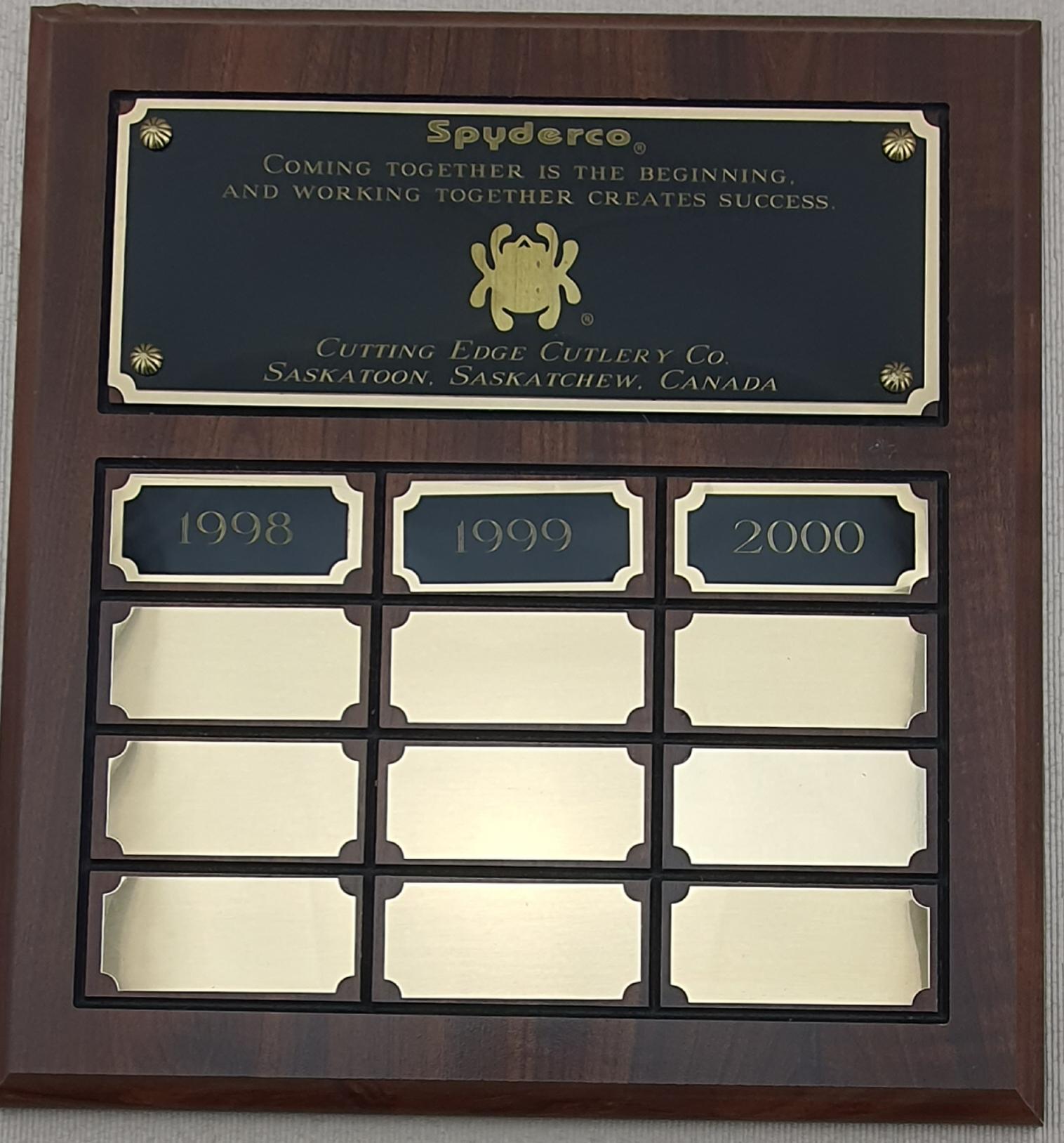 Spyderco award