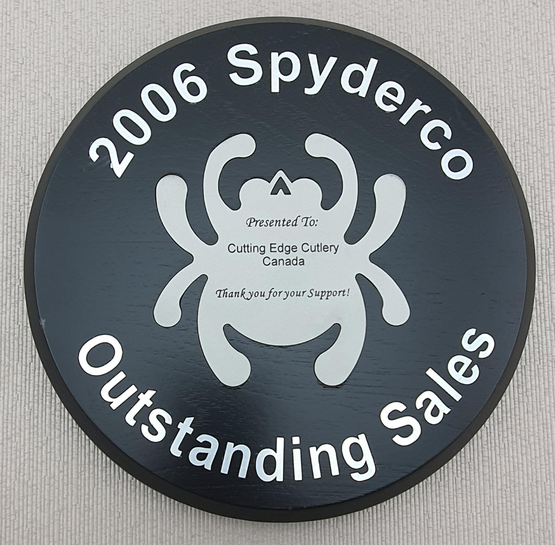 Spyderco award 2006