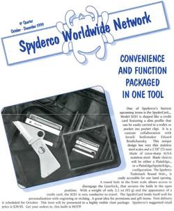 Spyderco newsletter Oct Dec 1999