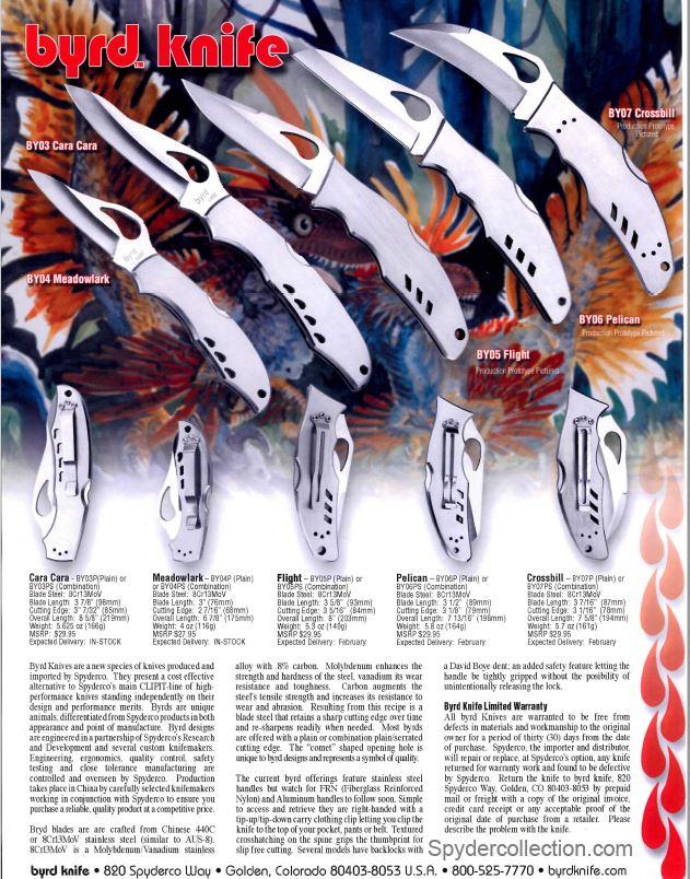 Byrd knife ad