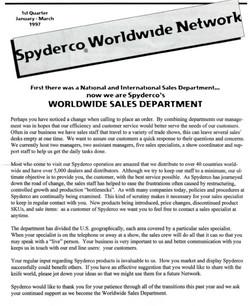 Spyderco newsletter Jan Mar 1997