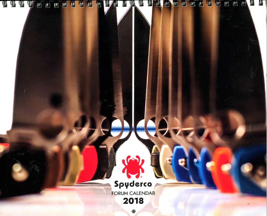 2018 Spyderco Calendar