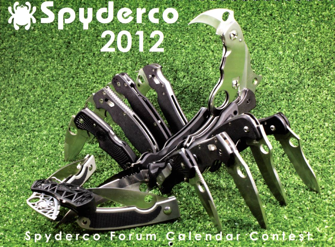 2012 Spyderco Calendar