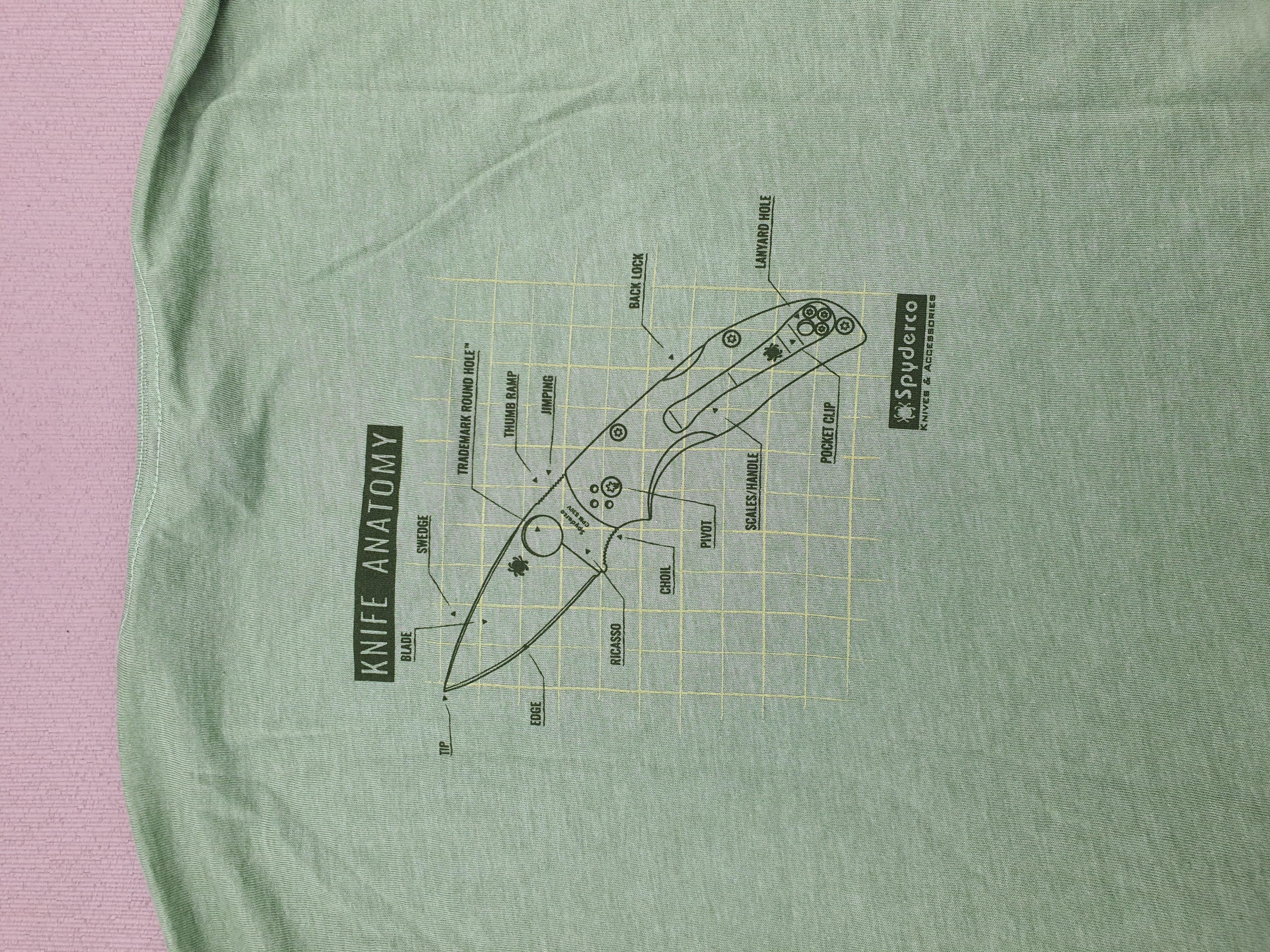 Knife anatomy T-Shirt back