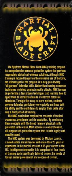 Spyderco Martial Blade Craft Flyer