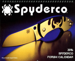 2016 Spyderco Calendar