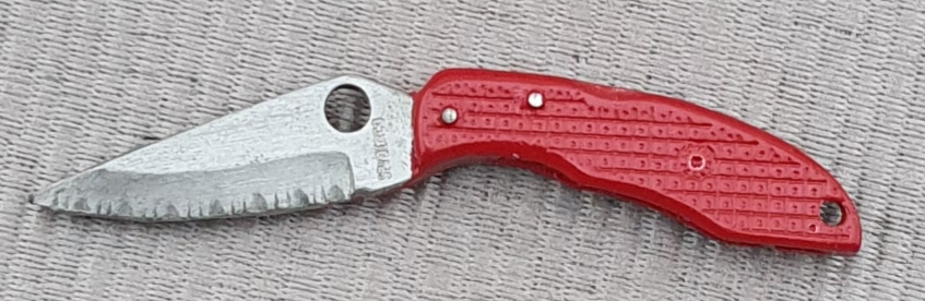 Spyderco Endura red Pin