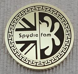 Spydiefam coin front