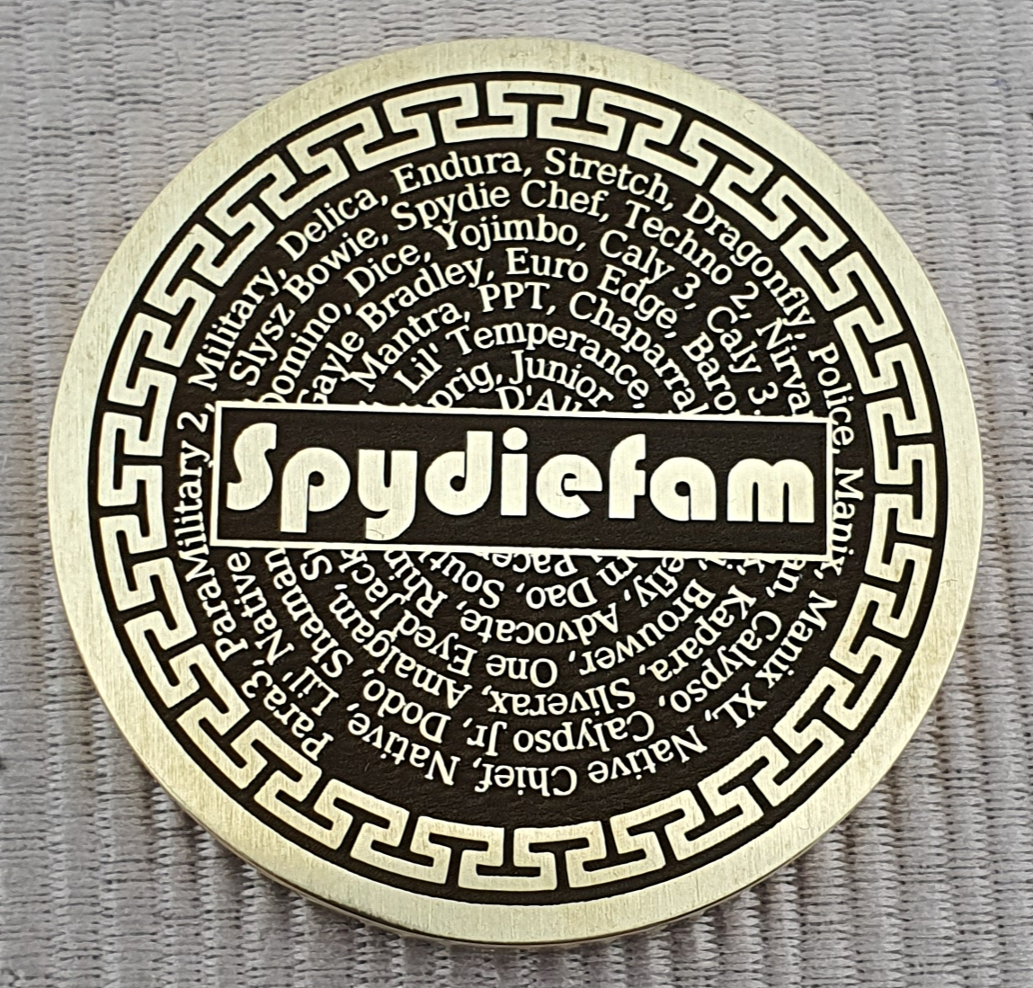 Spydiefam coin rear