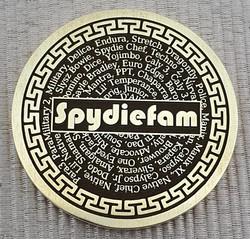 Spydiefam coin rear