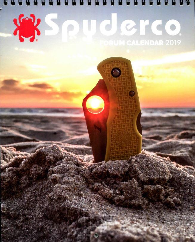 2019 Spyderco Calendar