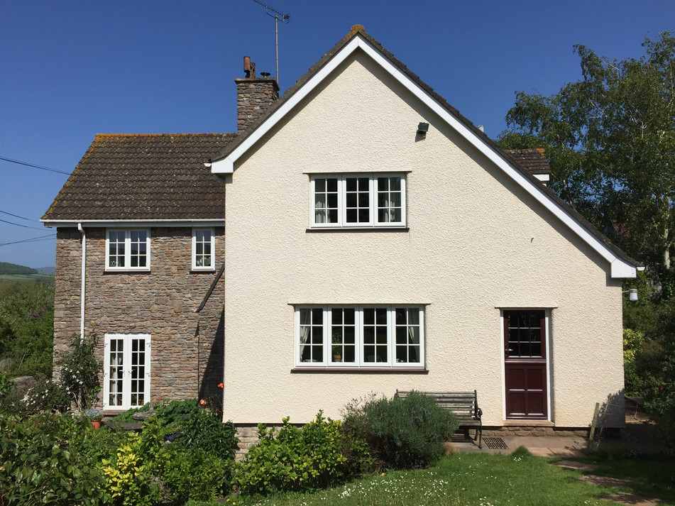 Weber insulated render with roughcast finish