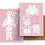 Thumbnail: Paper Doll Greeting Card Happy Valentine's Day Pink
