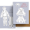 Thumbnail: Paper Doll Greeting Card Happy Valentine's Day Blue