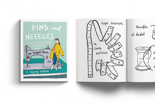 Pins and Needles: A Bilingual Coloring and Activity Book (10 Books Min)