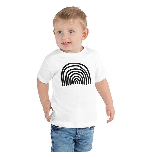 Toddler Rainbow Short Sleeve Tee White