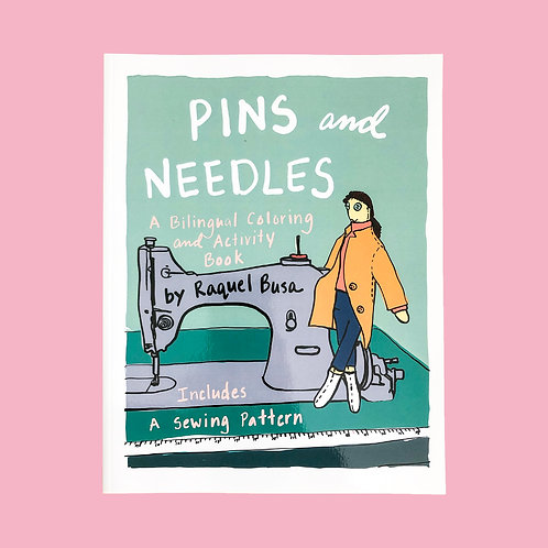 Printable Copy of Pins and Needles: A Bilingual Coloring and Activity Book