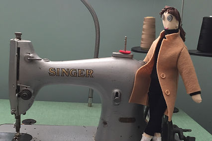 1937 Singer Sewing Machine with Cloth Doll