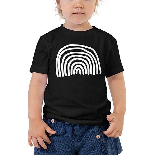 Toddler Rainbow Short Sleeve Tee Black
