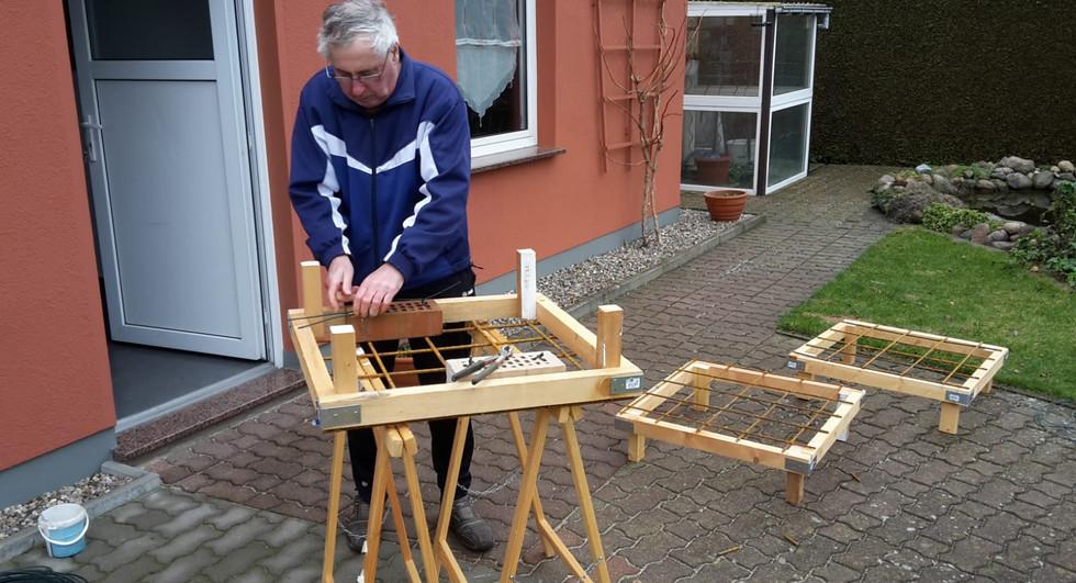 Olaf beim bauen