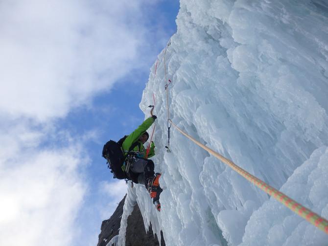 On a grimpé sur la glace !