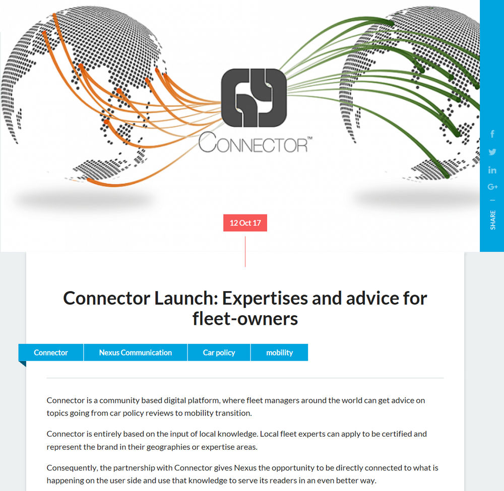 Connector interview on www globalfleet com