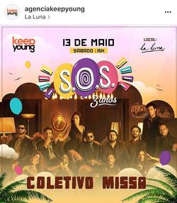 Flyer Coletivo Missa SOS 3 anos