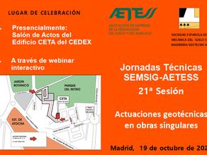 Jornadas Técnicas SEMSIG-AETESS 21ª Sesión   Actuaciones geotécnicas en obras singulares