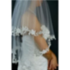 Full lace edged veil