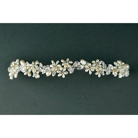 Freshwater pearl and diamante tiara