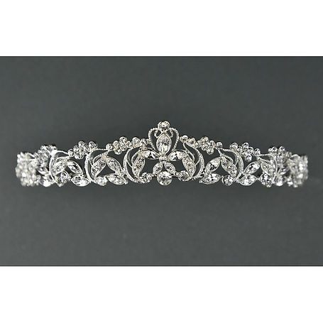 Crystal and diamante tiara