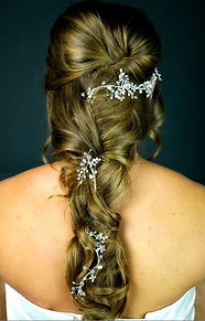Crystal wedding hair vine
