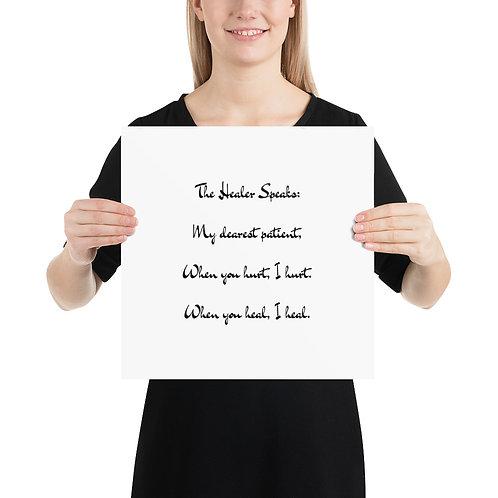 Poster: The Healer Speaks 1