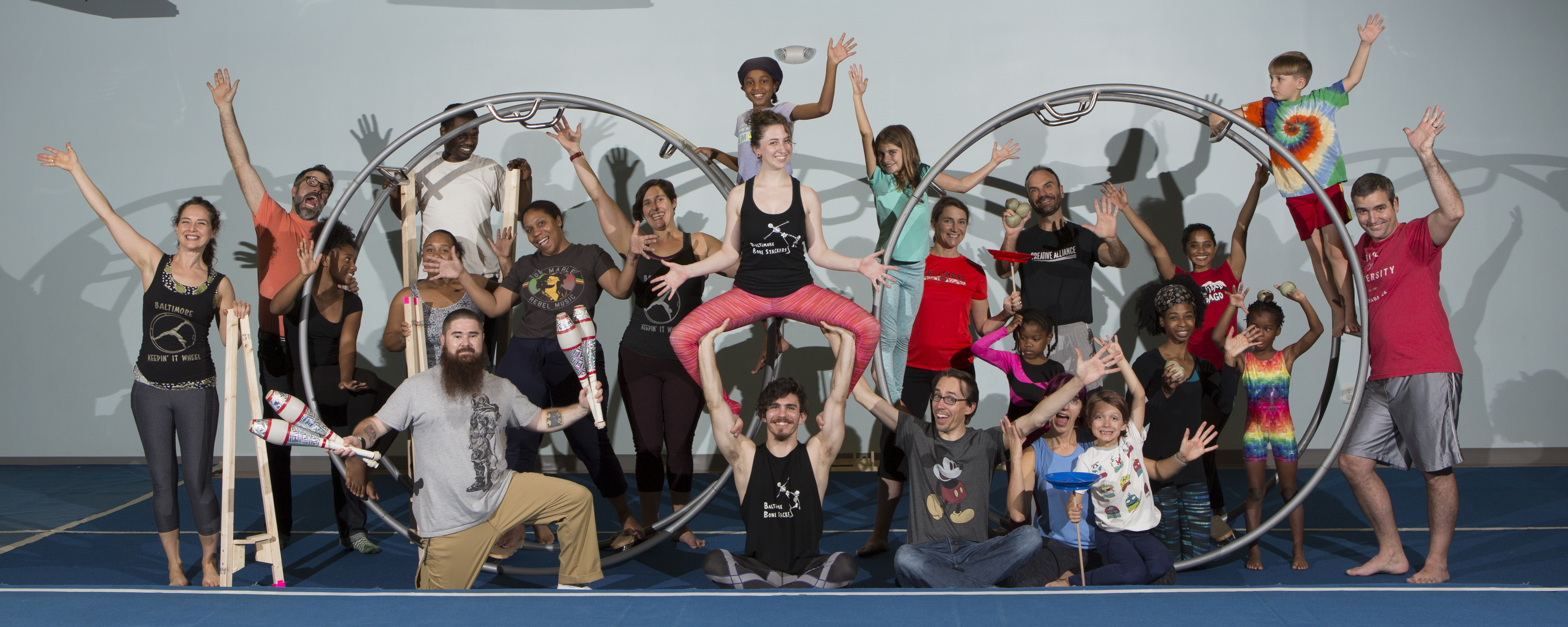 Sokol Family Circus Group Photo - credit