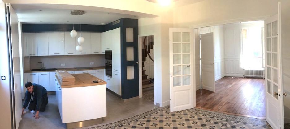 Espace cuisine, SaM, salon rénové