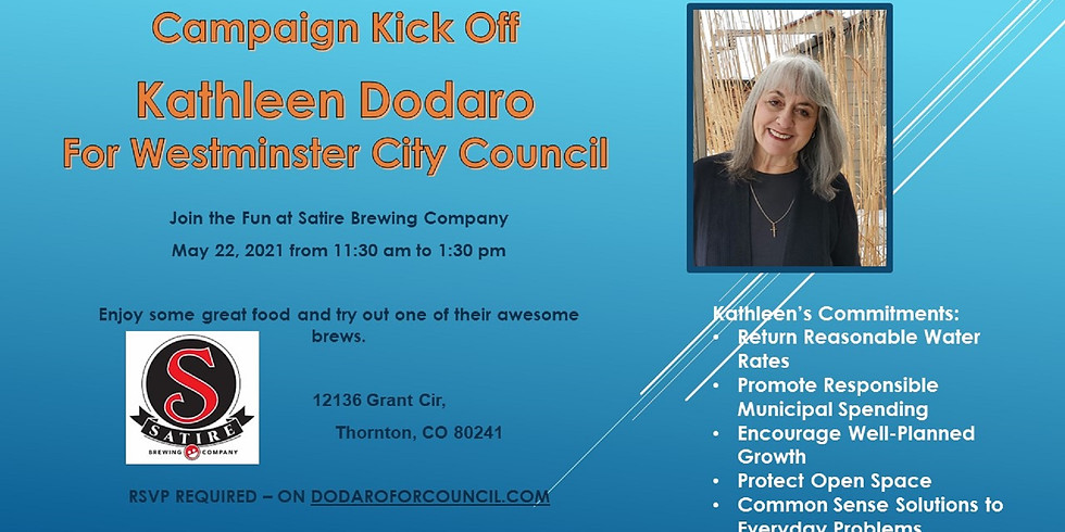 Campaign Kickoff for Kathleen Dodaro for Westminster City Council