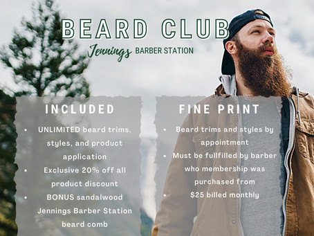 An Exclusive New Offering For All Our Bearded Clients