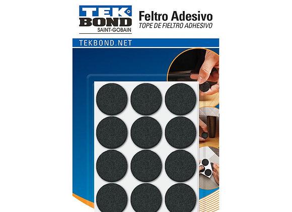 Tekbond Feltro Redondo 20mm Preto Cart C/24 Un