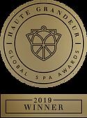 Haute Grandeur Spa Award Camelot Spa Group