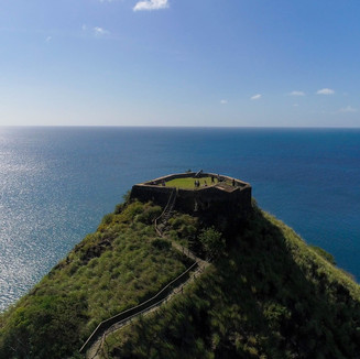Fort Rodney in Pigeon Island overlooking the Magnificent Caribbean Sea