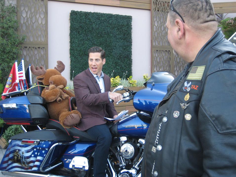 CBS8 Anchor Eric Kahnert looks like he's ready to ride.