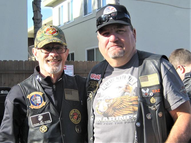 Two Marine gray beards