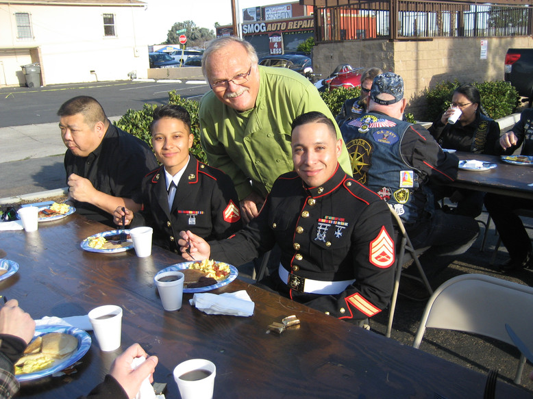 Greg with Marines at ECHD